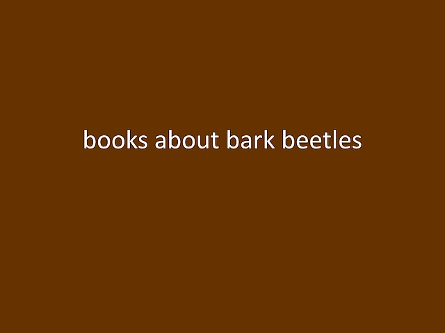 opening frame of Suze Woolf video about bark beetle books