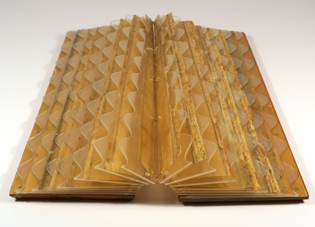 Suze Woolf artist book made from rowing shell parts