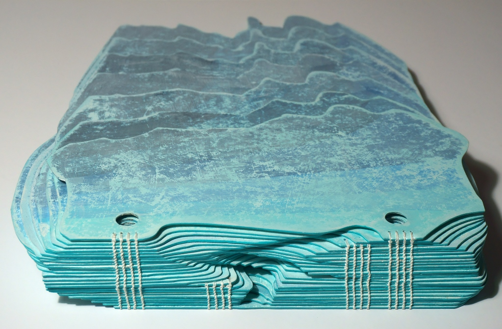 Photo of Suze Woolf artist book about icebergs