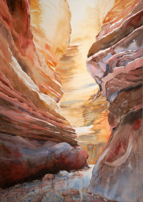 Deep Time (Blacktail Canyon) is watercolor painting by Suze Woolf