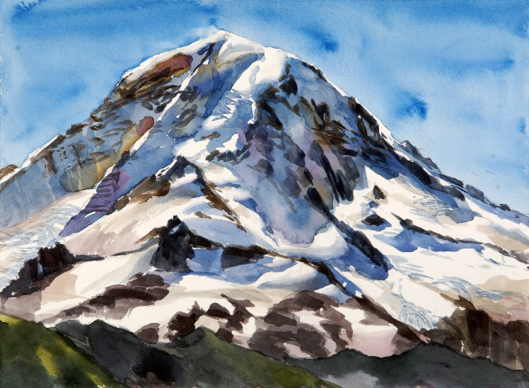 Her Majesty, Tahoma is a Suze Woolf watercolor painting
