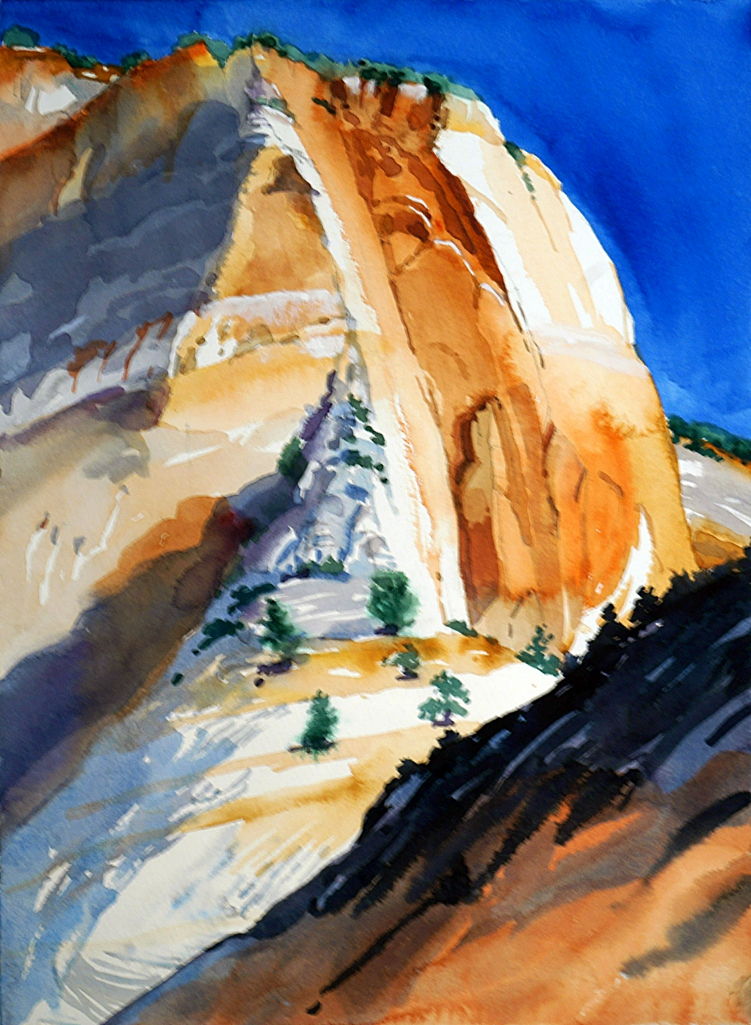 Suze Woolf watercolor painting from Zion National Park