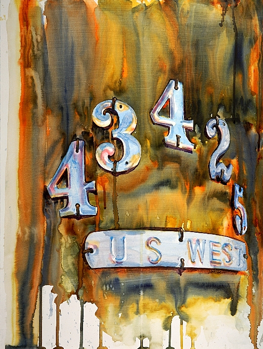 Enumclaw.434 is a watercolor on gesso painting by Suze Woolf