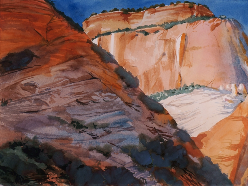 Suze Woolf painting of Zion National Park