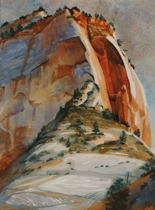 Suze Woolf watercolor from Zion National Park